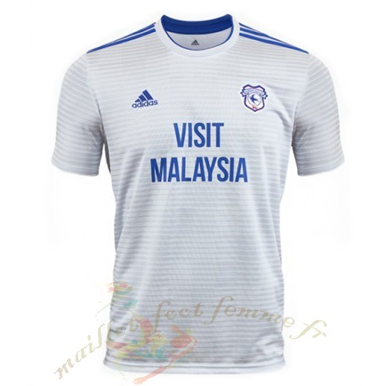 Destockage Maillot Football Adidas Exterieur Maillot Cardiff City 2018 2019 Blanc