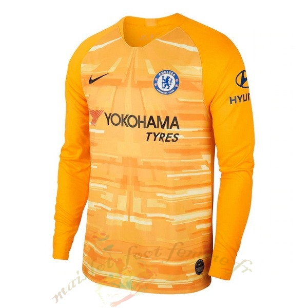 Destockage Maillot Football Nike Manches Longues Gardien Chelsea 2019 2020 Jaune