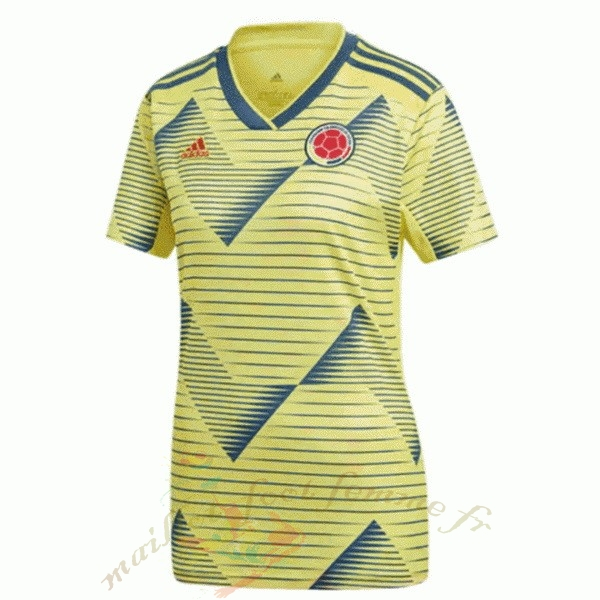 Destockage Maillot Football adidas Domicile Maillot Femme Columbia 2019 Jaune
