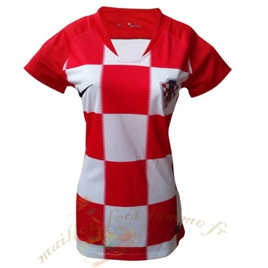 Destockage Maillot Football Nike Domicile Maillot Femme Croatie 2018 Rouge