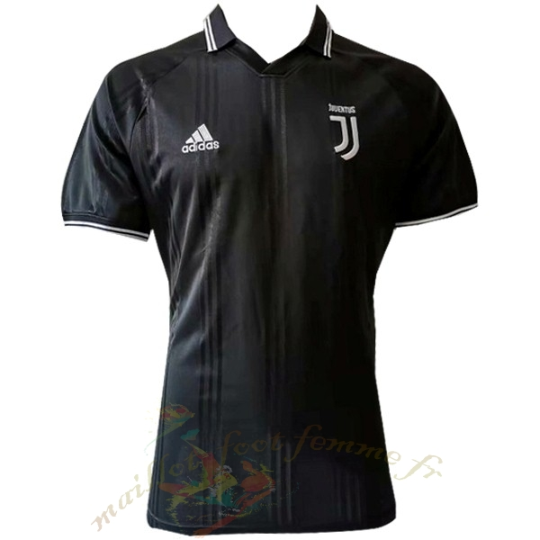 Destockage Maillot Football adidas Polo Juventus 2019 2020 Noir1
