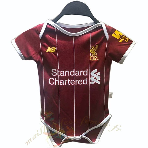 Destockage Maillot Football New Balance Domicile Onesies Enfant Liverpool 2019 2020 Rouge