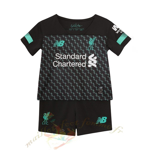 Destockage Maillot Football New Balance Third Ensemble Enfant Liverpool 2019 2020 Noir