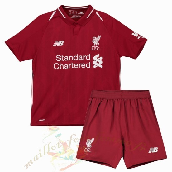 Destockage Maillot Football New Balance Domicile Conjunto De Niños Enfant Liverpool 2018 2019 Rouge
