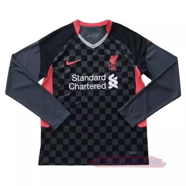 Destockage Maillot Football Nike Third Manches Longues Liverpool 2020 2021 Noir