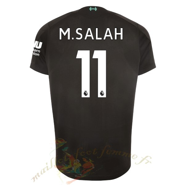Destockage Maillot Football New Balance NO.11 M.Salah Third Maillot Liverpool 2019 2020 Noir
