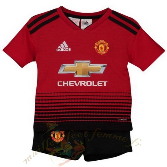Destockage Maillot Football Adidas Domicile Conjunto De Niños Enfant Manchester United 2018 2019 Rouge