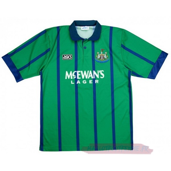 Destockage Maillot Football Asics Third Maillot Newcastle United Rétro 1994 1995 Vert