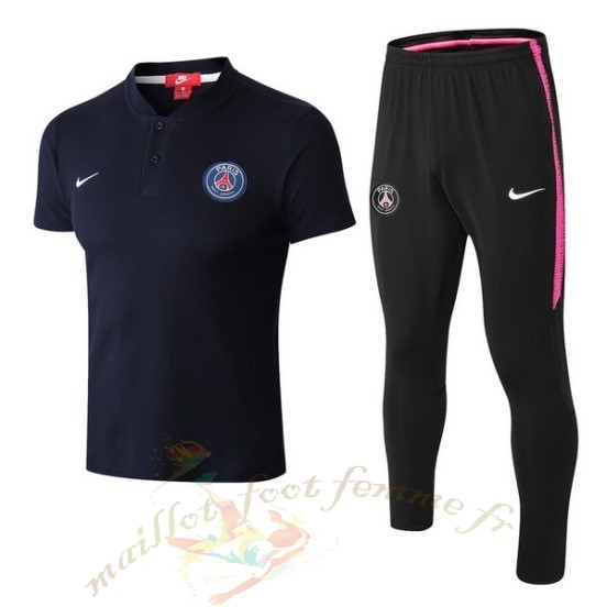 Destockage Maillot Football Nike Ensemble Complet Polo Paris Saint Germain 2018 2019 Bleu