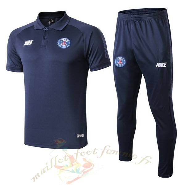 Destockage Maillot Football Nike Ensemble Polo Paris Saint Germain 2019 2020 Bleu