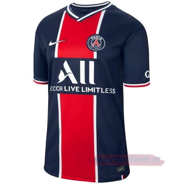 Destockage Maillot Football Nike Domicile Maillot Paris Saint Germain 2020 2021 Bleu