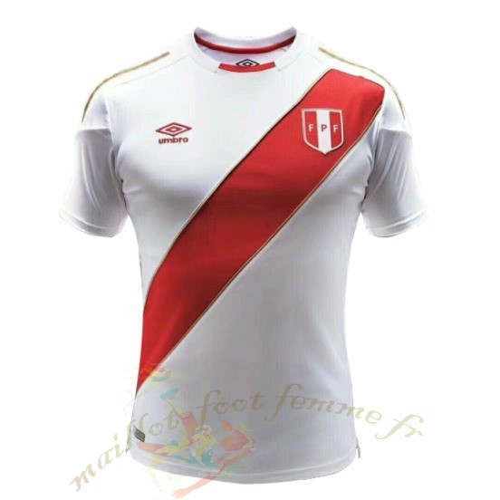 Destockage Maillot Football Umbro Domicile Maillot Pérou 2018 Blanc
