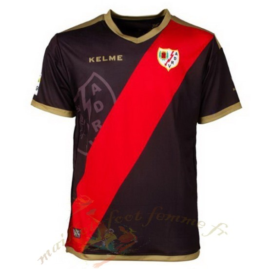 Destockage Maillot Football Kelme Exterieur Maillot Rayo Vallecano De Madrid 2018 2019 Noir