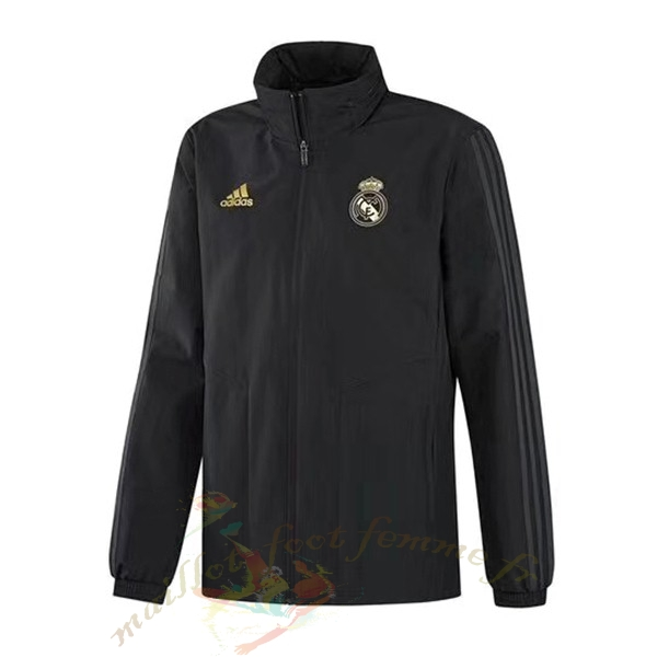 Destockage Maillot Football adidas Coupe Vent Real Madrid 2019 2020 Noir Jaune