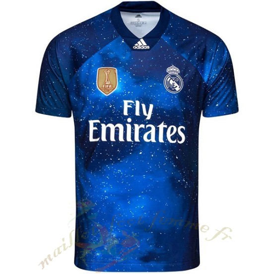 Destockage Maillot Football Adidas Ea Sport Maillot Real Madrid 2018 2019 Bleu Marine
