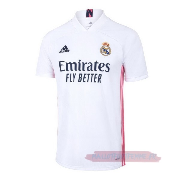 Destockage Maillot Football adidas Thailande Domicile Maillot Real Madrid 2020 2021 Blanc
