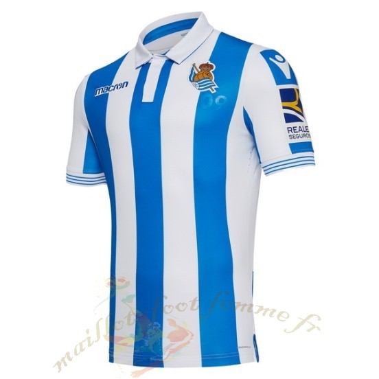 Destockage Maillot Football Macron Domicile Maillot Real Sociedad 2018 2019 Bleu
