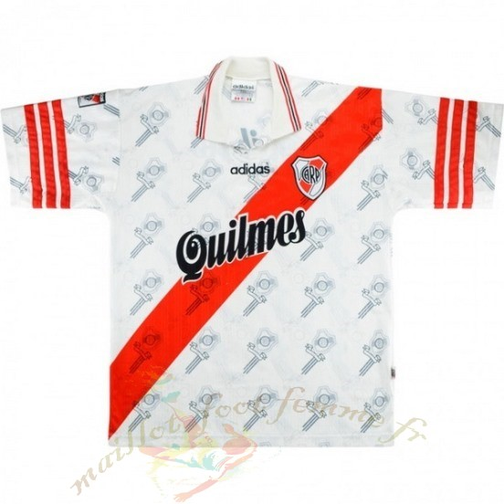 Destockage Maillot Football Adidas Domicile Maillot River Plate Rétro 1996 Blanc