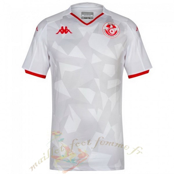 Destockage Maillot Football Kappa Domicile Maillot Tunisie 2019 Blanc
